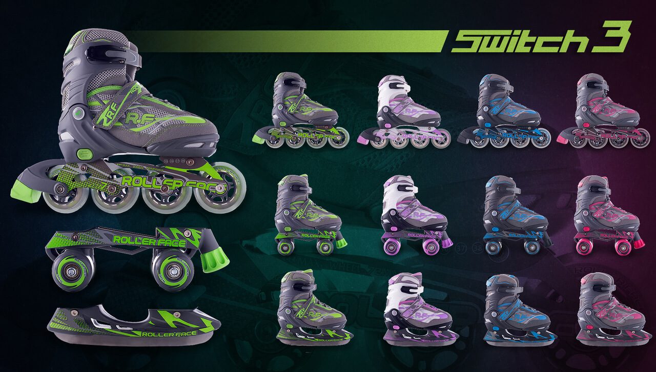Patines rollerface intercambiables
