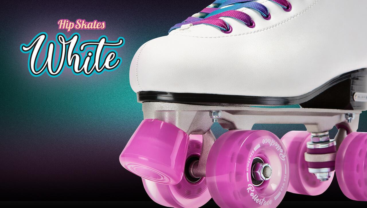 Patines rollerface cuatro ruedas white